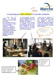 «Un petit déjeuner SAIN et MALIN à l'école libre St-Martin»