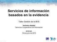 ¿Que es evidencia? - BVS