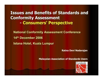 National Conformity Assess presentation CA from consumer ...