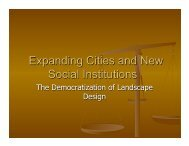 Chapters 9 Expanding Cities and New Social Institutions