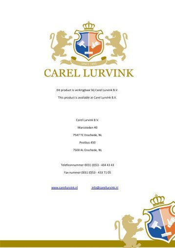 Download productblad - Carel Lurvink