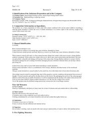 MSDS 160 Revision 4 Date 14-11-05 1-Identification of ... - Toolbank