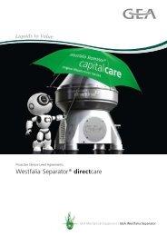 GEA Westfalia Separator® directcare – Proactive Service Level ...