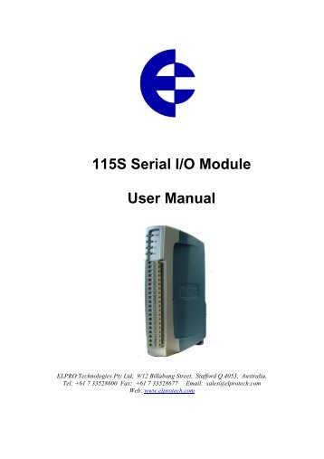 115S Serial I/O Module User Manual - TABATEQ
