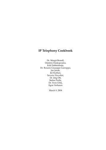 IP Telephony Cookbook