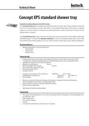Concept XPS standard shower tray - Butech