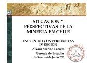 SITUACION Y PERSPECTIVAS DE LA MINERIA EN CHILE - Sonami