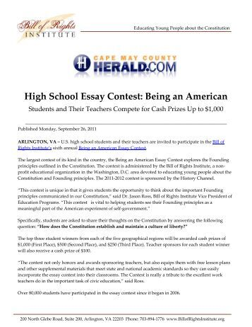 amendments essay The following is the winner of the daily cougar's constitution day essay contest when we consider our rights as codified in the constitution, we should always.