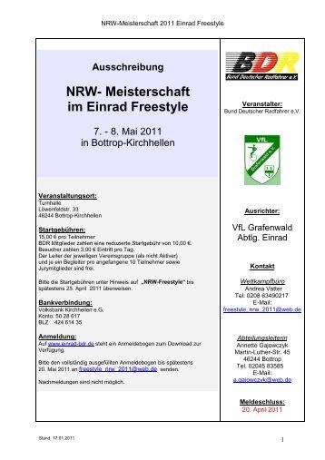 NRW- Meisterschaft im Einrad Freestyle - Einrad im BDR