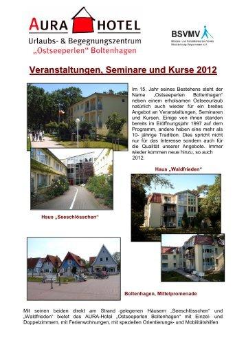 Veranstaltungen, Seminare und Kurse 2012 - AURA- Hotel ...