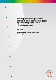 statistisk analyse - Center for Alternativ Samfundsanalyse