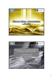 Mineria Chilena - Oportunidades y Desafios