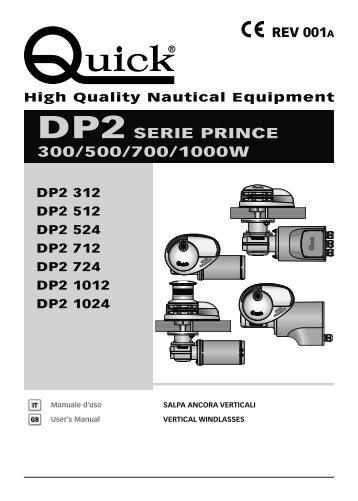 DP2 SERIE PRINCE 300/500/700/1000W - Quick® SpA