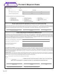 PAYMENT REQUEST FORM - Missouri Petroleum Storage Tank ...