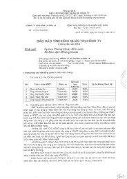 Báo cáo tình hình Quản trị Công ty (6 tháng đầu năm 2013). - lilama 18