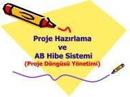 Proje Hazırlama ve AB Hibe Sistemi Proje Hazırlama ve AB Hibe ...