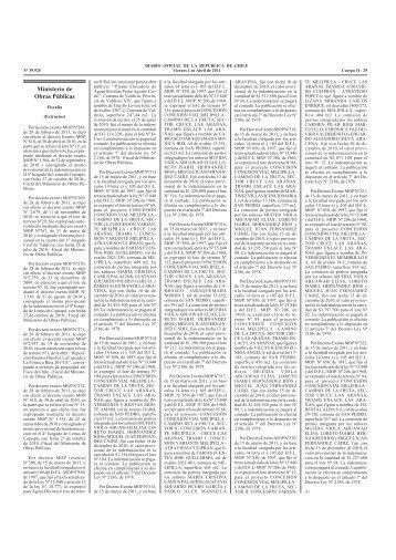 Ministerio de Obras Públicas - Subsecretaría de Obras Publicas - MOP