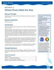 Where Rivers Meet the Sea Teacher Guide - Estuaries NOAA