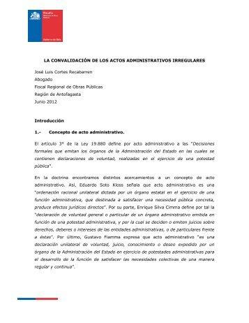 LA CONVALIDACIÓN DE LOS ACTOS ADMINISTRATIVOS ...