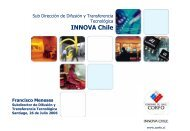 Subdireccion de Difusion y transferencia Tecnologica Innova Chile