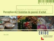 Perception de l'évolution du pouvoir d'achat - Crioc