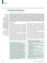 Depression in adolescence