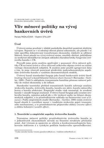 Attachment - Czech Journal of Economics and Finance