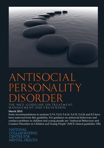 Antisocial Personality Disorder - National Institute for Health and ...