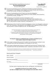Verbindliches Beauftragungsformular für eine Beisetzung - Ruhe Sanft