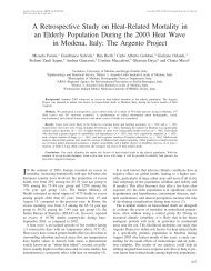 A Retrospective Study on Heat-Related Mortality in an Elderly ...