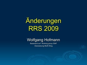 Download: Änderungen RRS 2009.pdf (3 MB)