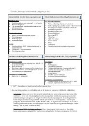 Oversikt over tilgjengelige tiltak, og tiltak som ev. er under utarbeidelse