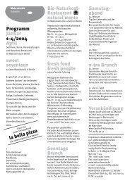 Programm Januar 1–4/2004 April fresh food fresh people Samstag ...