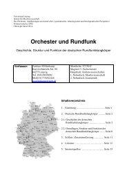 Orchester und Rundfunk - cultiv - Gesellschaft für internationale ...