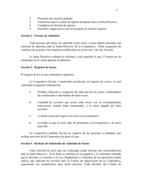 Reglamento Oficial