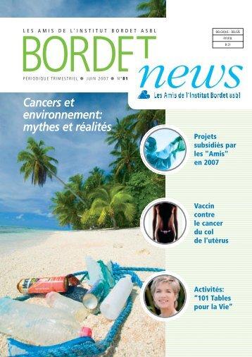 Cancers et environnement: mythes et réalités - Institut Jules Bordet ...
