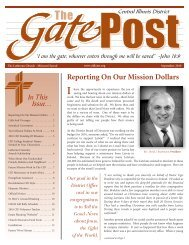 Reporting On Our Mission Dollars - Central Illinois District - Lutheran ...