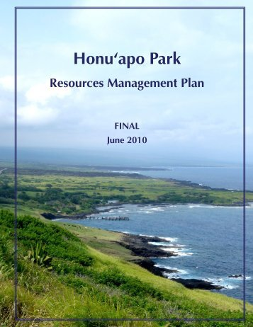 Honu'apo Park Resource Management Plan
