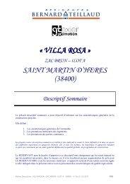 Notice Desciptive - VILLA ROSA - ZAC BRUN - ILOT A - SMDH …