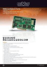 Video zachytávací kartyse softwarovou kompresí (série A) NVB-025 ...