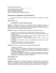 Ley 18.956 Ministerio de Educación