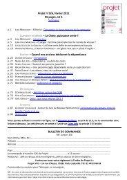 Extrait de la revue Projet de février 2012 - petits frères des Pauvres