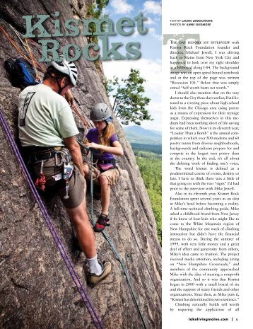 Read the article. - Kismet Rock Foundation