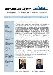 IMMOBILIEN weekly Ausgabe 28 vom 12 August 2009