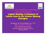 Legally Binding: A Summary of Labour Laws in the GMS - JUNIMA.org