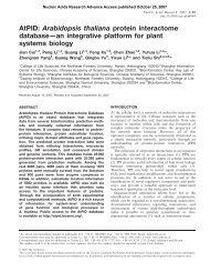 AtPID: Arabidopsis thaliana protein interactome database—an ...