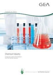 Chemical Industry pdf, 3.7 MB - GEA Westfalia Separator