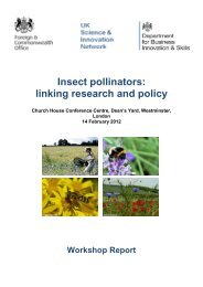 Insect Pollinators: linking research and policy - STEP Project