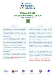 ANNUAL DINNER - Society of Maritime Industries