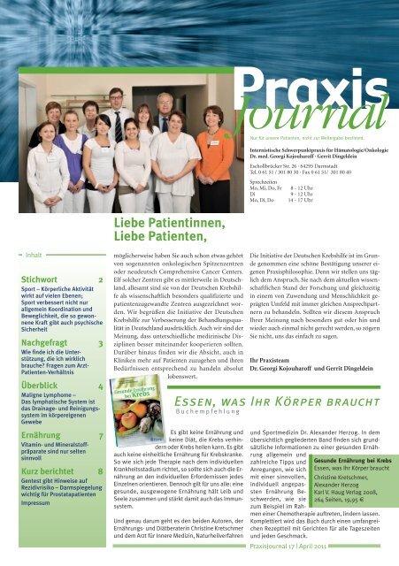 Ausgabe 17 / 2011 - Onkologische Schwerpunktpraxis Darmstadt